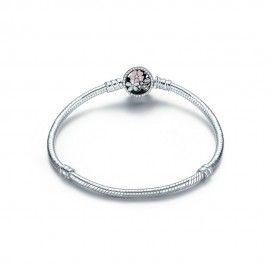 Sterling silver charm bracelet Cherry blossom