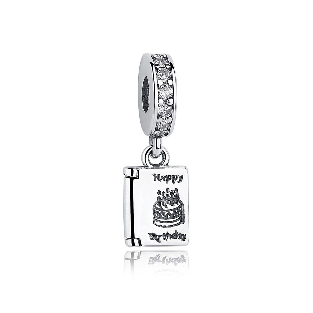Sterling Silver Pendant Charm Happy Birthday Cake Mijn Bedels For Y