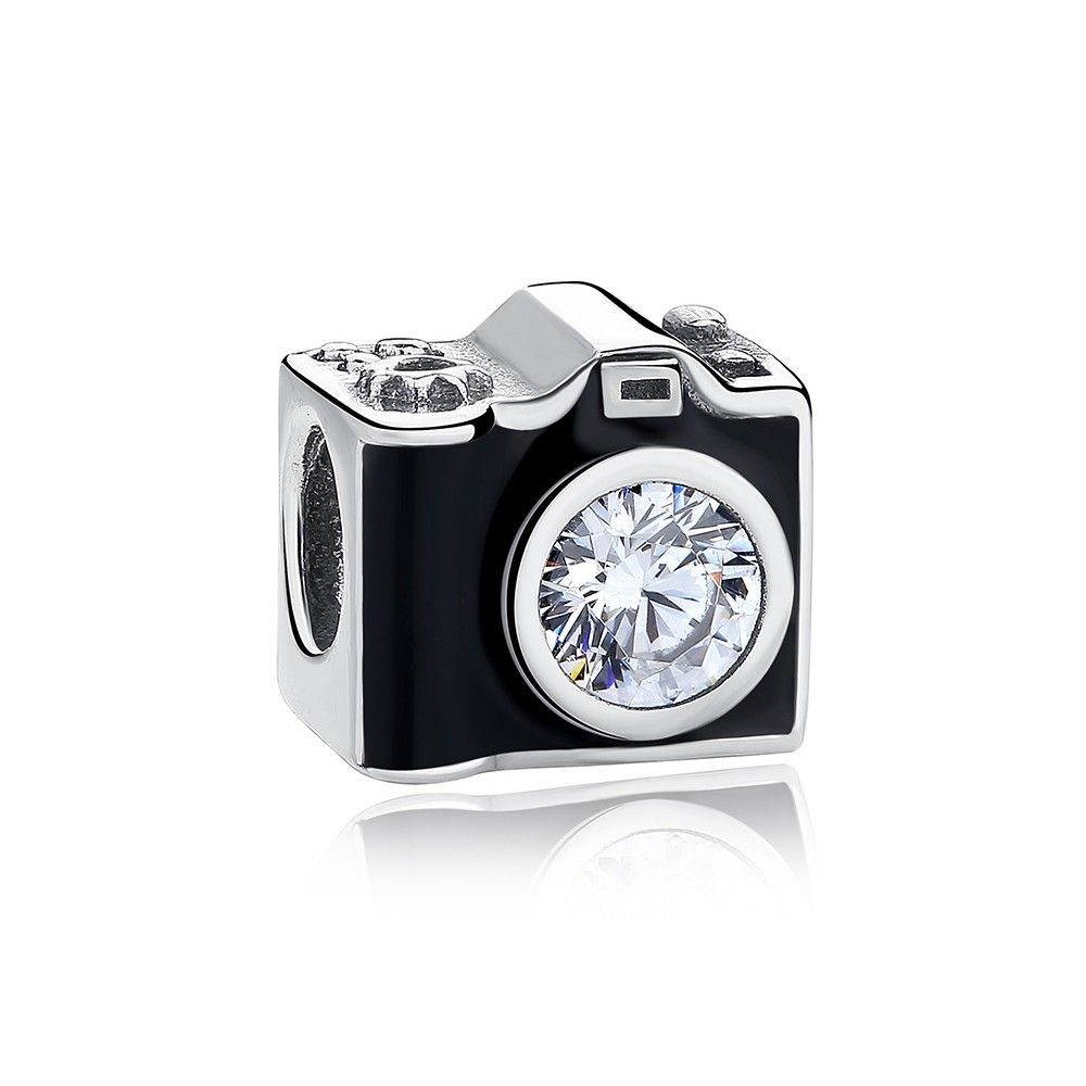 Sterling silver charm Camera
