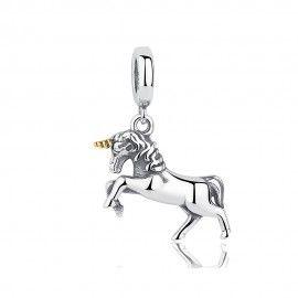 Charm in argento Unicorno