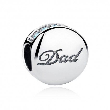 9b7f85bdc ... Sterling silver charm Dad ...