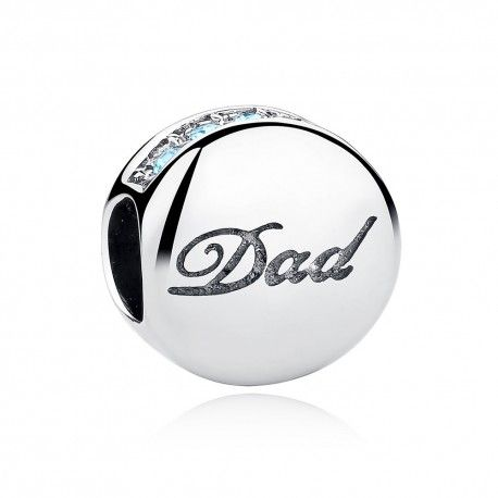 Sterling silver charm Dad