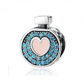 Charm en argent Bouteille de parfum d'amour