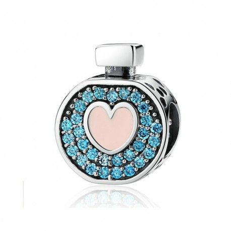 Charm in argento Bottiglia di profumo d'amore