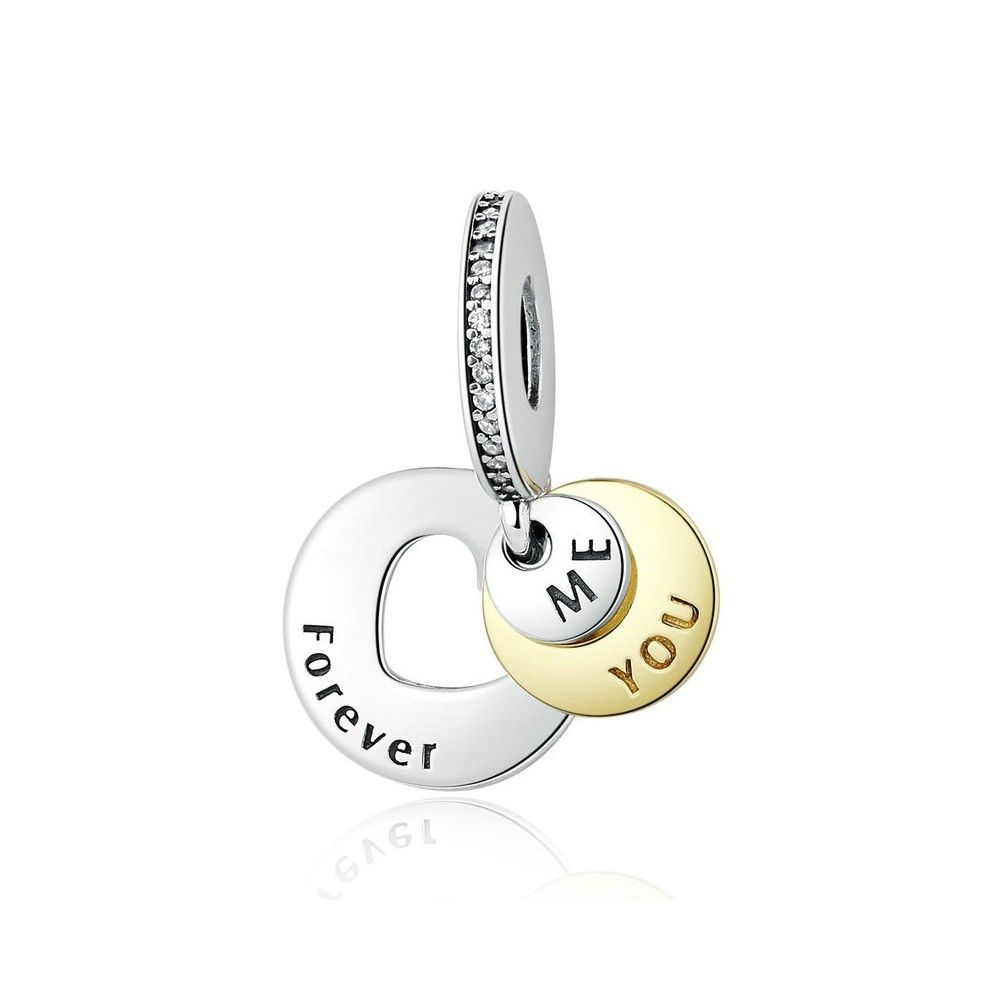 Sterling silver pendant You and me forever