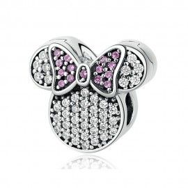 Sterling silver charm Minnie mouse