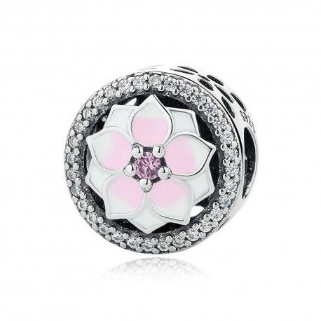 Sterling silver charm Magnolia bloom
