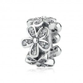 Sterling silver charm Dazzling daisies
