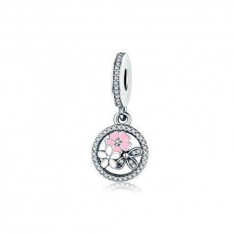 Sterling silver pendant Poetic flowers
