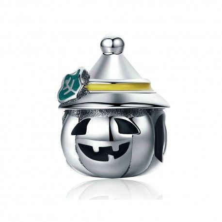 Zilveren bedel Halloween