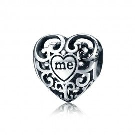 Zilveren bedel Jij en Ik