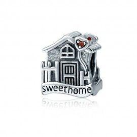 Zilveren bedel Prachtig huis