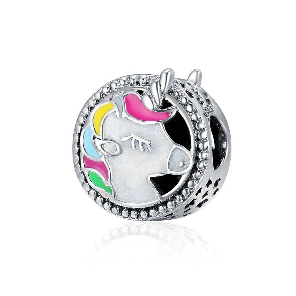 Sterling silver charm Unicorn
