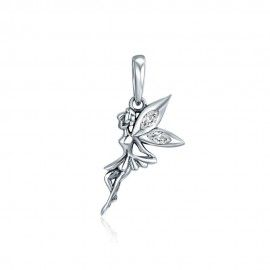 Sterling silver pendant charm Flower fairy