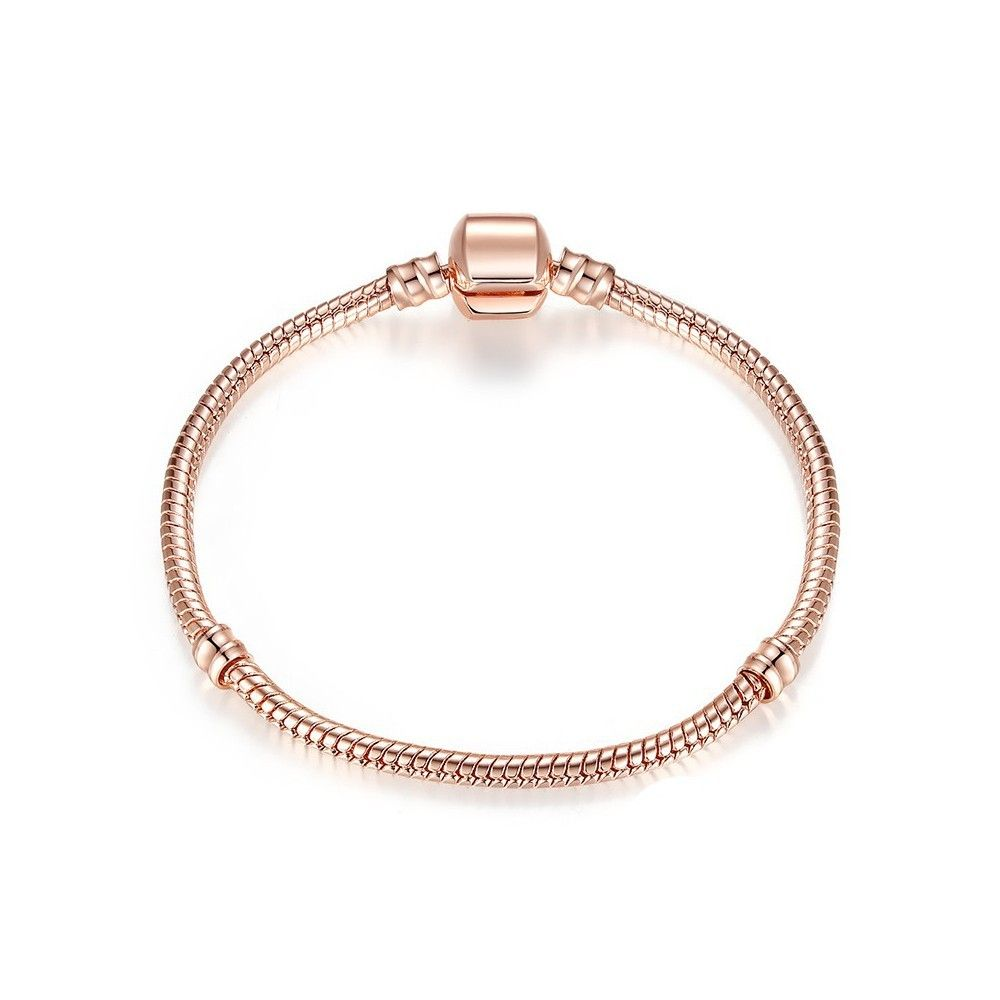 Silver plated snake bracelet rose gold plated