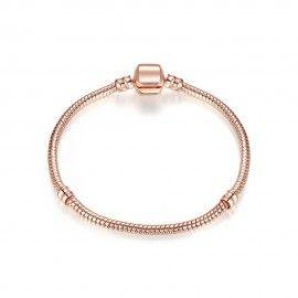 Silver plated snake bracelet rose gold plated