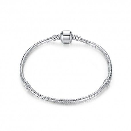 Silver plated snake bracelet