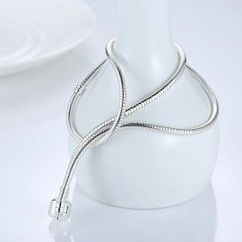 Silver plated snake Necklace