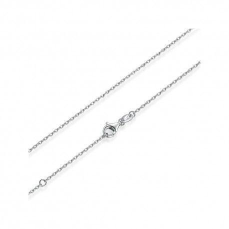 Zilveren halsketting met karabijnsluiting