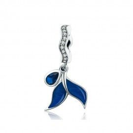 Sterling silver pendant Whale's tail