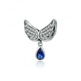 Sterling silver pendant Angel wings feather