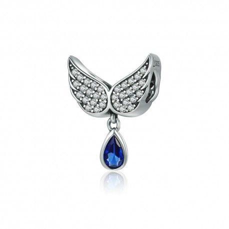 Zilveren hangende bedel Engelenvleugels veer