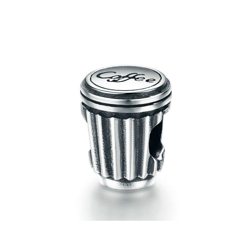 Zilveren bedel Koffiekop