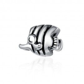 Sterling silver charm Tropical fish