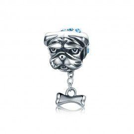 Charm in argento Bulldog