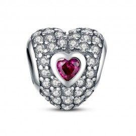 Charm in argento A forma di cuore