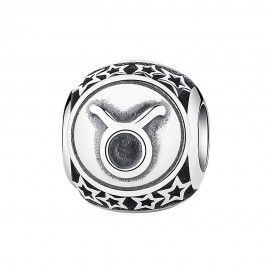 Sterling silver charm Zodiac sign Taurus
