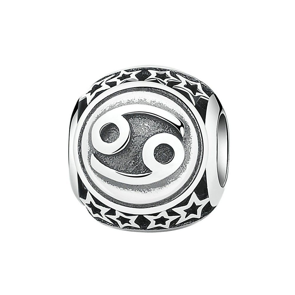 Sterling silver charm Zodiac sign Cancer