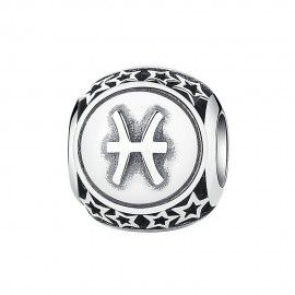 Sterling silver charm Zodiac sign Pisces