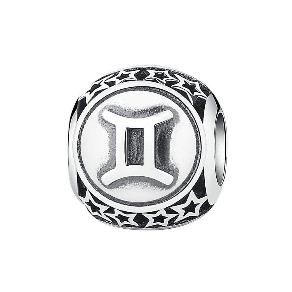 Sterling silver charm Zodiac sign Gemini