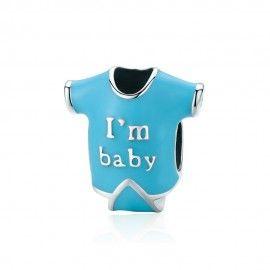 Charm en plata de Ley Soy un bebé