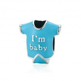 Sterling silver charm I am baby
