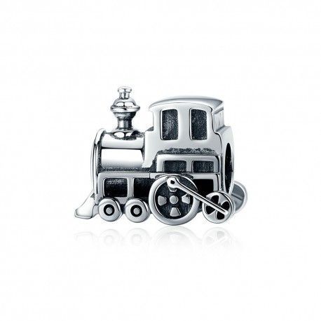 Sterling silver charm Locomotive