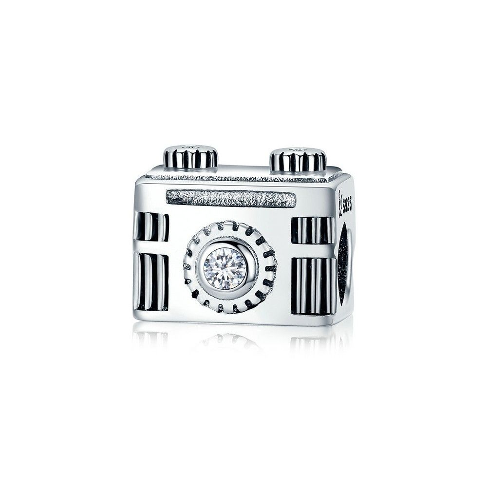 Sterling silver charm Vintage camera