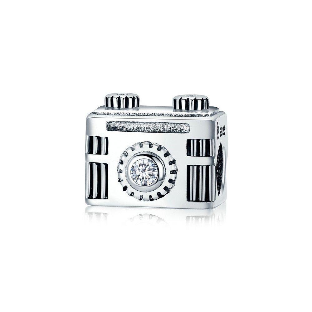 Zilveren bedel Vintage camera