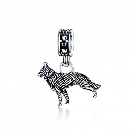 Sterling silver pendant Sheepdog