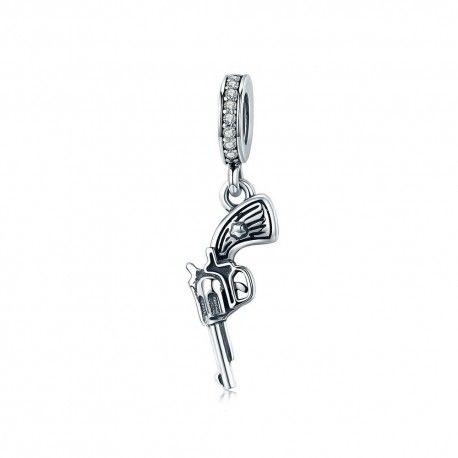 Sterling silver pendant Revolver