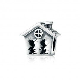 Sterling silver charm Family together forever