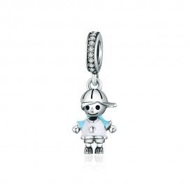 Sterling silver pendant Little boy