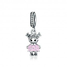Sterling silver pendant charm Little girl
