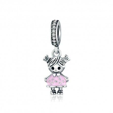 Sterling silver pendant Little girl