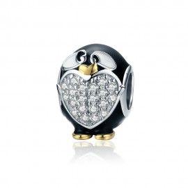 Zilveren bedel Pinguïn