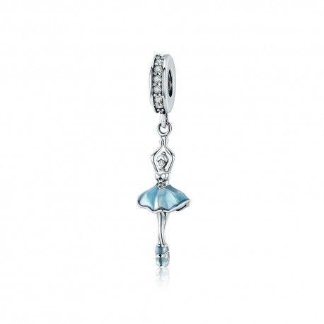 72b294b2e5b1 Charm colgante en plata de Ley Bailarina de ballet-Mijn bedels-para...