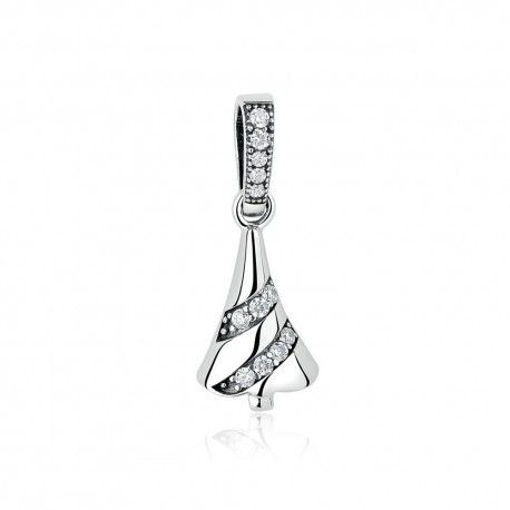 Sterling silver pendant Shining Christmas tree