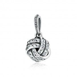 Sterling silver pendant charm Glittering ball