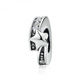 Sterling silver charm Luminous star